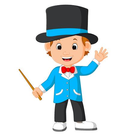 the performer: cute magician cartoon