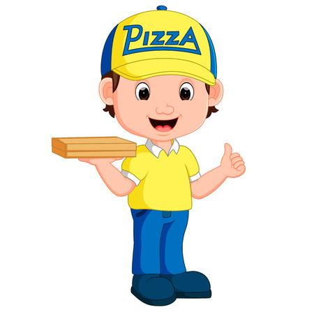 Pizza Delivery Man Cartoon