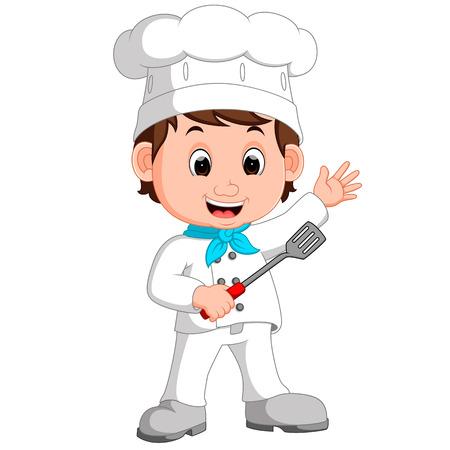 Cartoon funny chef.