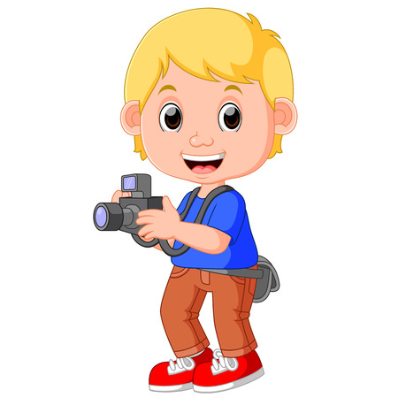 hobbyist: Cartoon character photographer Stock Photo