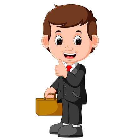 cute businessman cartoon