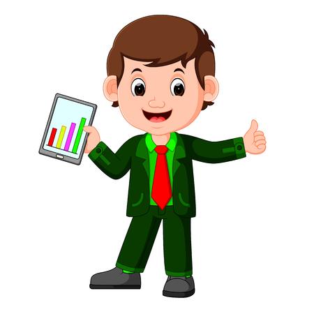 executive assistants: cute businessman cartoon