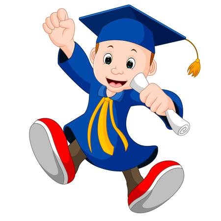 졸업 후 행복한 소년