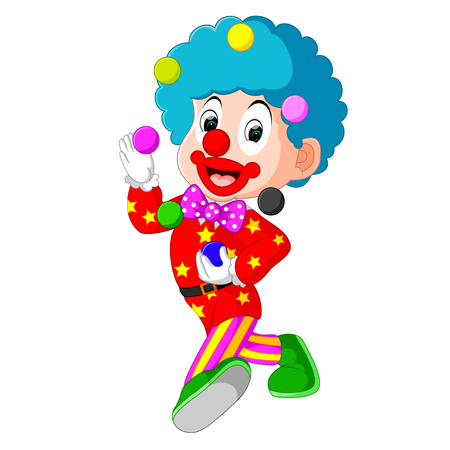 clown playing balls