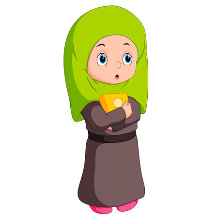 believes: Female muslim standing
