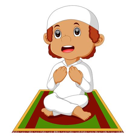 religious clothing: muslim boy praying