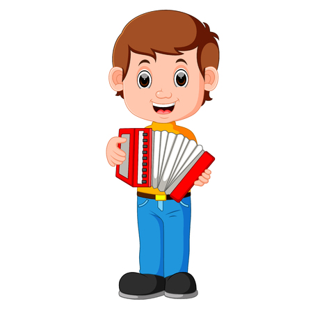 Accordion piano player