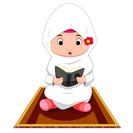 believes: Female muslim praying