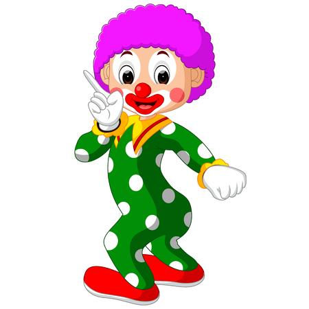 polkadot: Funny clown cartoon Stock Photo