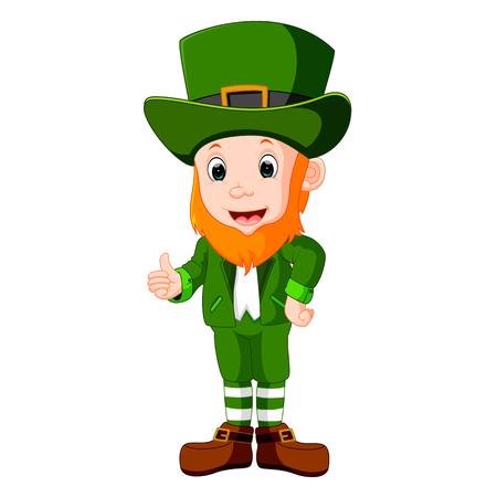elves: illustration of Cartoon funny leprechaun Illustration