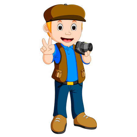 Cartoon character - photographer