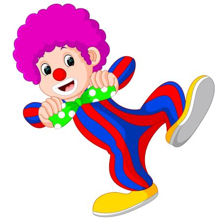 stage makeup: clown using big tie cartoon