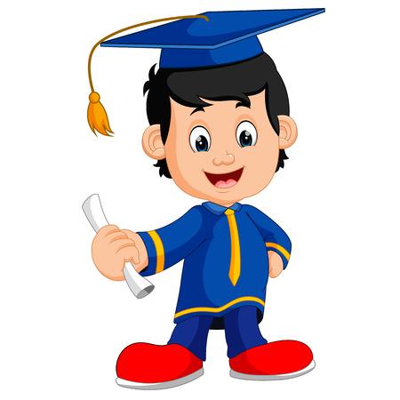 happy boy after graduation Stock Photo
