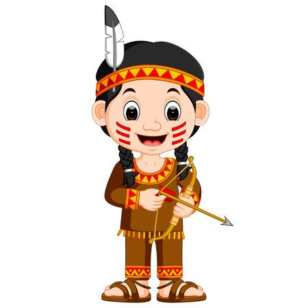 Fille indienne nord-américaine Banque d'images - 79629856