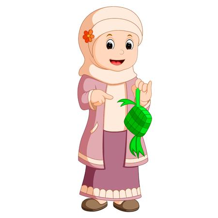surprisingly: Happy Muslim kid cartoon