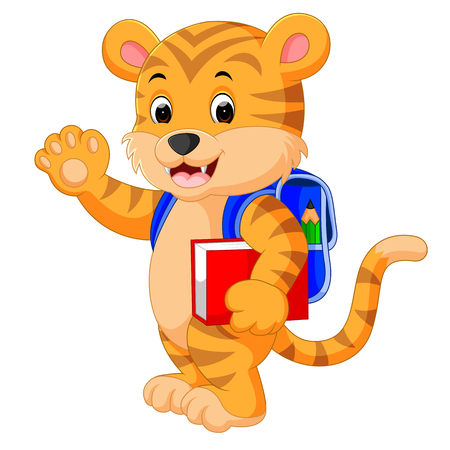 goes: little tiger goes to school