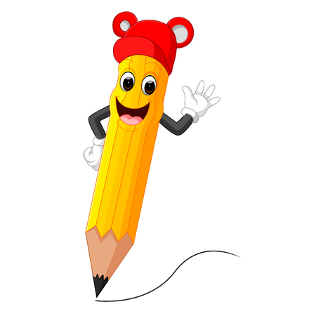 Cute pencil cartoon