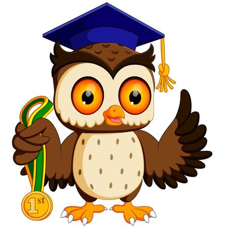 Eule in der Graduierung Standard-Bild - 80613206
