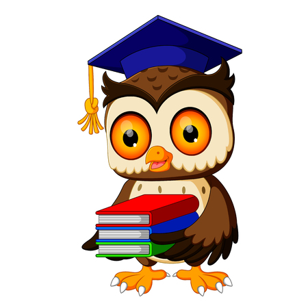 Owl carrying book