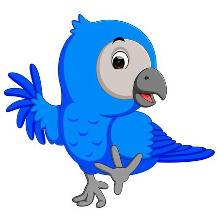 macaw: A Macaw bird cartoon.