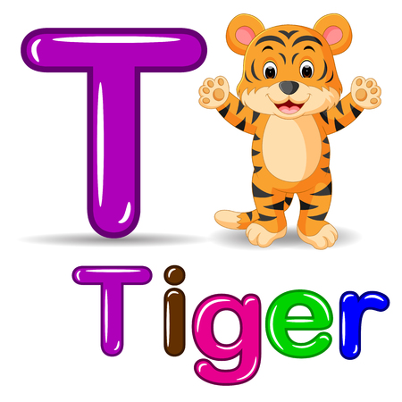 Cute tiger cartoon Stock Photo