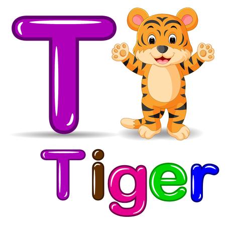 deportes caricatura: Historieta linda del tigre Foto de archivo