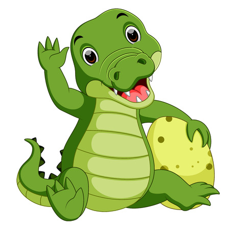 HI: Cute crocodile cartoon Stock Photo