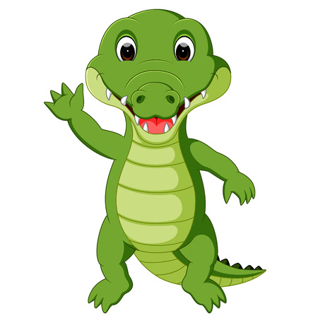 Cute crocodile cartoon Stock Photo