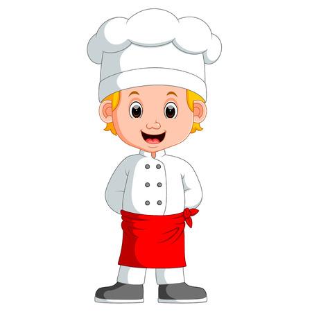 kiddies: boy chef cartoon Illustration