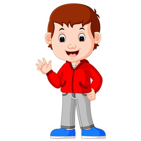 Cute boy cartoon good posing Illustration