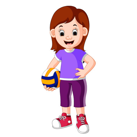 Female Volleyball Player Illustration