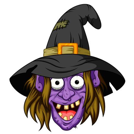 Witch head cartoon
