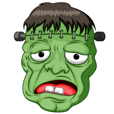 Frankenstein Kopf Cartoon Standard-Bild - 86034988