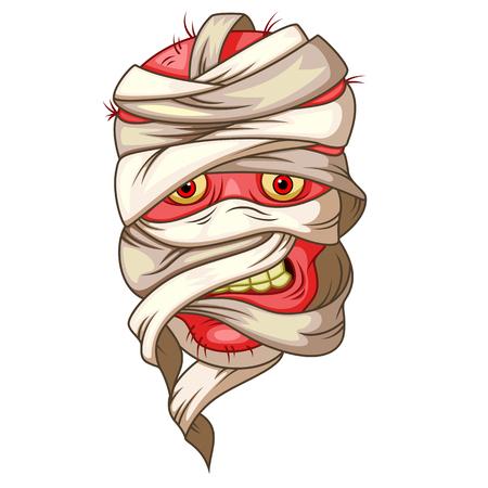 mummy head cartoon