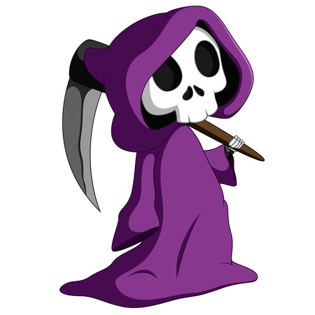 Cute grim reaper Stock Photo - 85954129