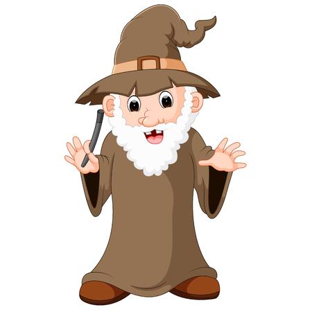 funny witch cartoon Reklamní fotografie