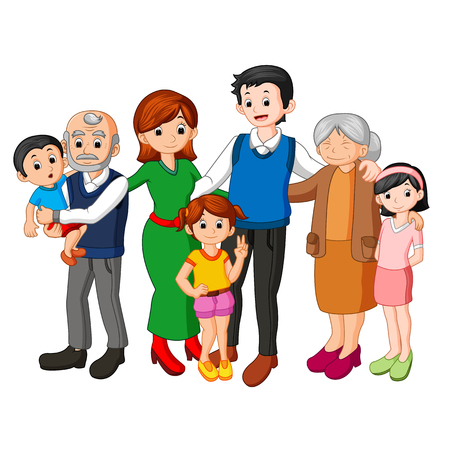 Big family together Stock Photo - 90030596