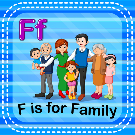 Flashcard letter F is for family