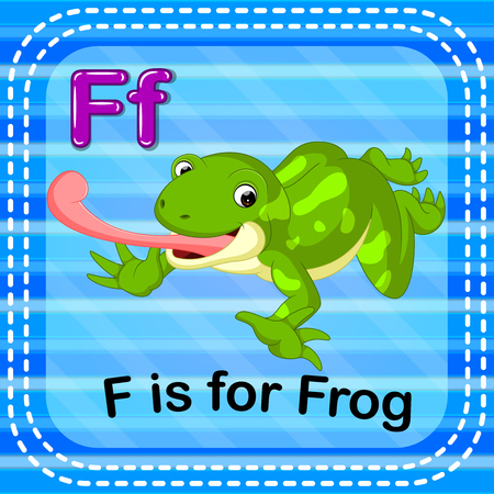 Flashcard letter F is for frog