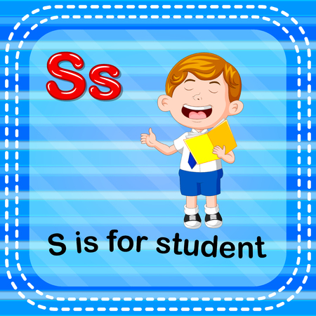 Flashcard letter S is for student Ilustração