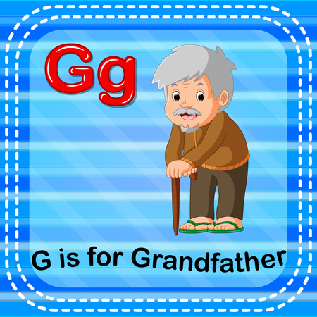 Flashcard letter G is for grandfather