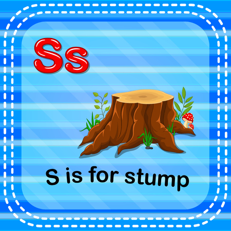 Flashcard letter S is for stump