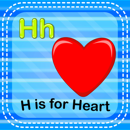 Flashcard letter H is for heart