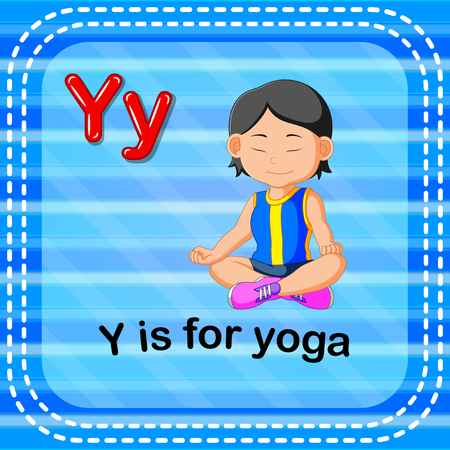 Flashcard letter Y is for yoga