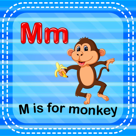 Flashcard letter M is for monkey