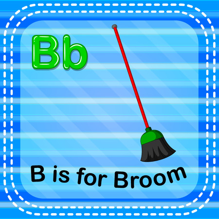 Flashcard letter B is for broom