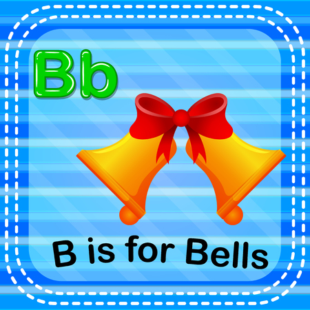 Flashcard letter B is for bells