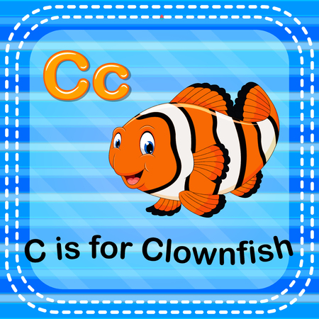 Flashcard letter C is for clownfish