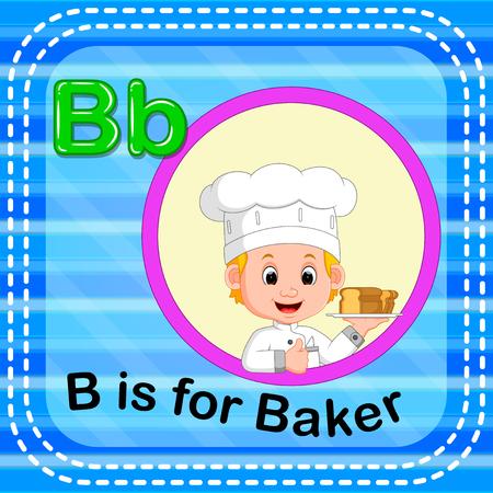 Flashcard letter B is for baker Stok Fotoğraf - 93073966