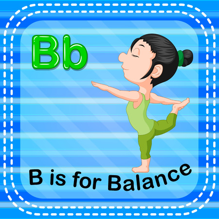Flashcard letter B is for balance Illusztráció